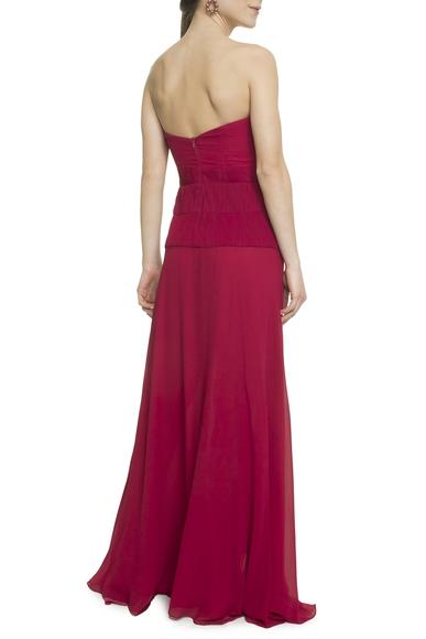 Vestido Longo Vermelho - DG18107 Valdemar Iodice