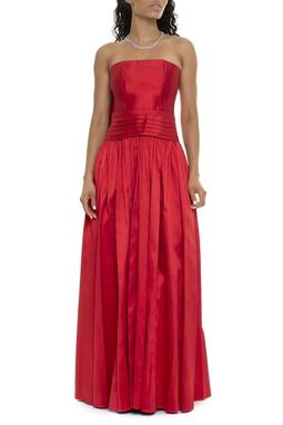 Vestido Longo Vermelho Laço - DG15928