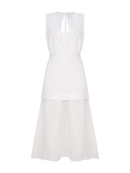 Vestido Mahavira Off White USTYLE
