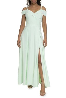 Vestido Verde Menta Fenda - DG14738