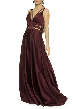Vestido Marsala Alça - DG17611