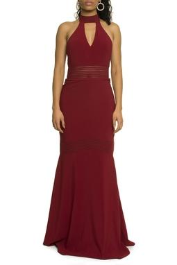Vestido Marsala Frente Única - DG17490