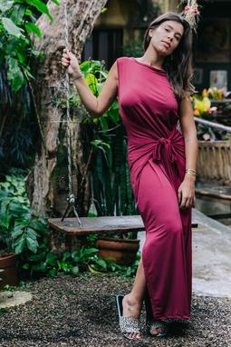 Vestido Mia Vinho