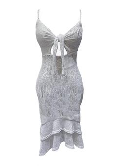 Vestido Midi Babados
