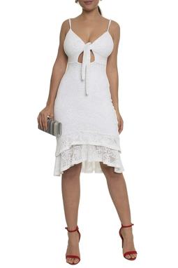 Vestido Midi Babados - DG14789