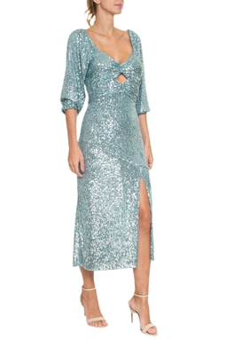 Vestido Midi Bojo Franzido - 99318