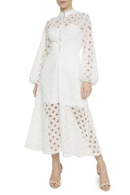Vestido Midi Branco - DG18144