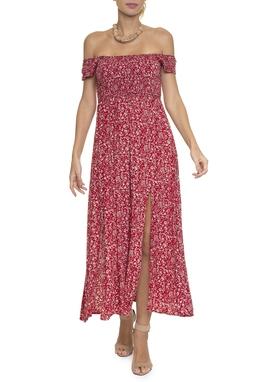 Vestido Midi Estampado Vermelho - DG16510