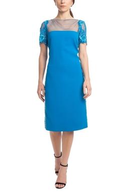 Vestido Midi MC Azul HM - DG18534