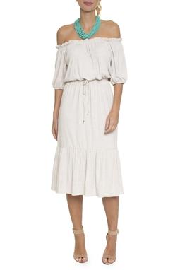 Vestido Midi Ombro A Ombro - DG16588
