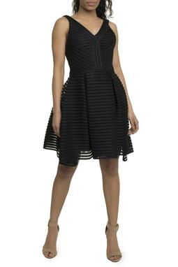 Vestido midi preto - DG17903
