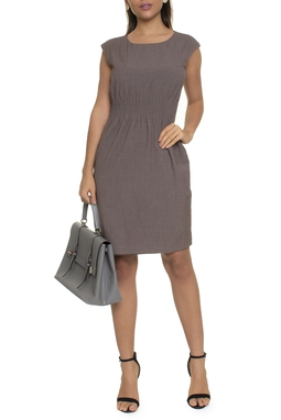 Vestido Midi Reto Elástico - DG16637