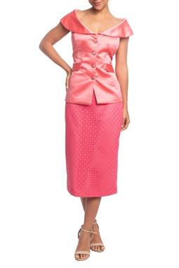 Vestido Midi Sem Manga Coral HM - DG18796