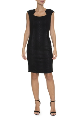Vestido Midi Textura Animal - DG16636