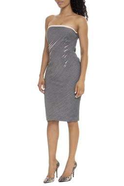 Vestido Midi Tubinho Cinza - DG15927