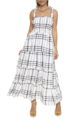 Vestido Midi Xadrez Lastex - DG16581