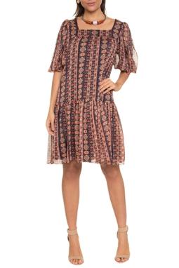 Vestido Mini Decote Quadrado - 140698