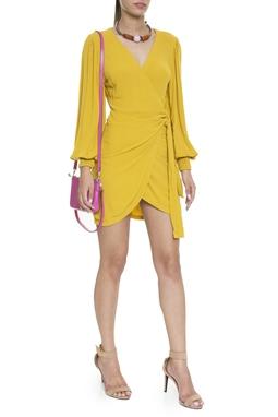 Vestido ML Bufante Amarelo - DG16374