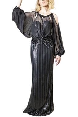 Vestido Nelly Manga Tule THM - DG16938