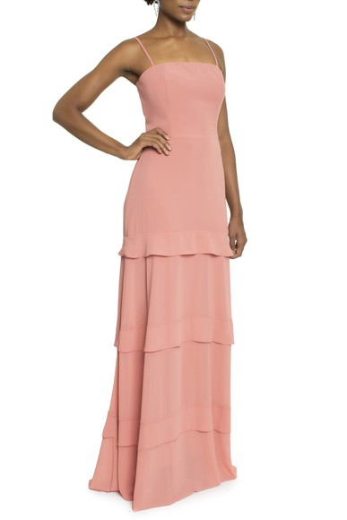 Vestido Nise Coral Basic Collection
