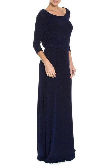Vestido Noite Drape Blue Ateen