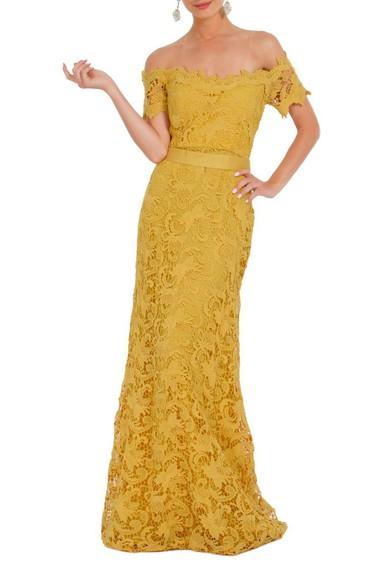 Vestido Noyon Yellow Lita Mortari