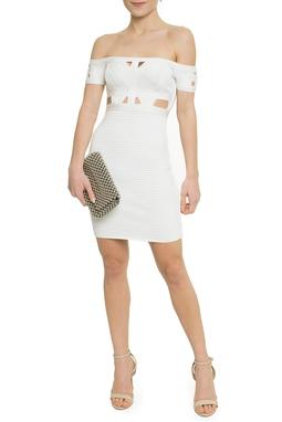 Vestido Off White Curto - DG17726
