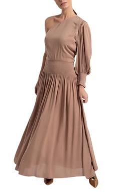 Vestido Oli Longo Um ombro - DG16984