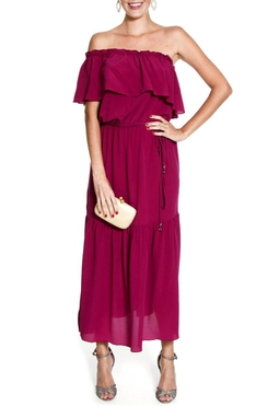 Vestido Ombro babado - DG11008