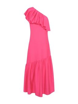 Vestido Ombro so Jabo - Rosa Pink  USTL