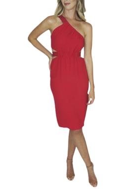 Vestido Ombro Vermelho - BMD 9634