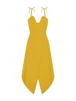 Vestido Origami Era - Amarelo Argila  USTL