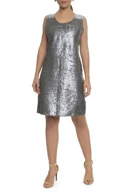 Vestido Paetê Prata - DG17050
