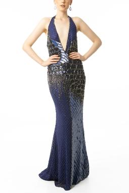 Vestido Pavoni Blue