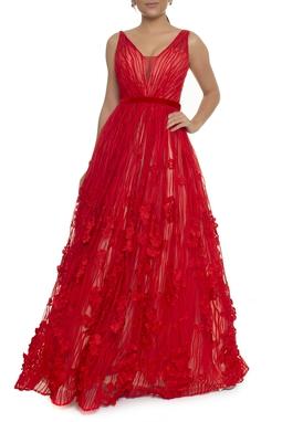 Vestido Petunia Vermelho DMU