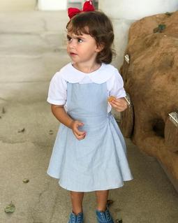 Vestido Pietra Mini Listras Azul E Branco
