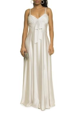 Vestido Prata Seda - DG17480