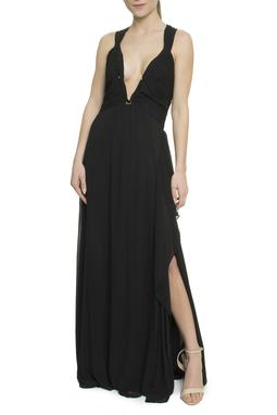 Vestido Preto Decote Estruturado - DG17754