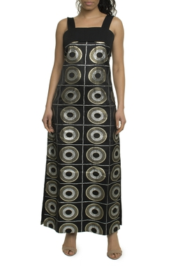 Vestido Preto Estampa Brilho - DG17823
