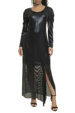 Vestido Preto Malha Metal - DG17981
