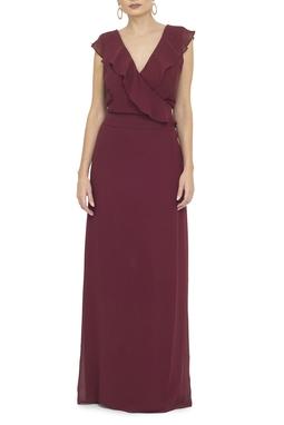 Vestido Raquelle Marsala - DG13865