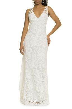 Vestido Renda Off White - DG17491