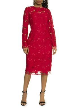 Vestido Renda Vermelho - DG17431