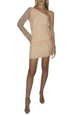 Vestido Rosa de Um Ombro - BMD 9335