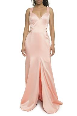 Vestido Rosa Recortes - DG17927