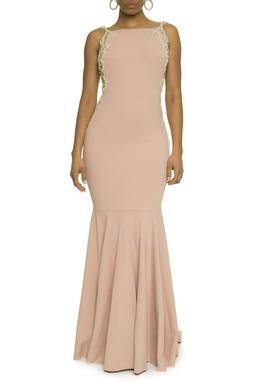 Vestido Rose Bordado Lateral - DG17632