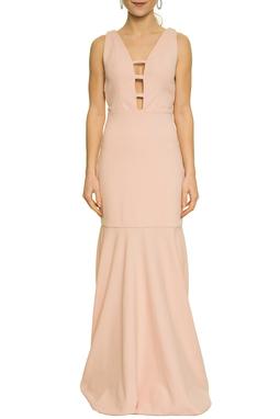 Vestido Rose Recorte Decote - DG17633