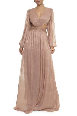 Vestido Rosita Rosa Lurex - DG17781