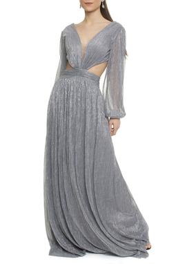 Vestido Rosita Prata Lurex - DG17782