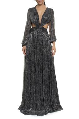 Vestido Rosita Preto Lurex - DG17783